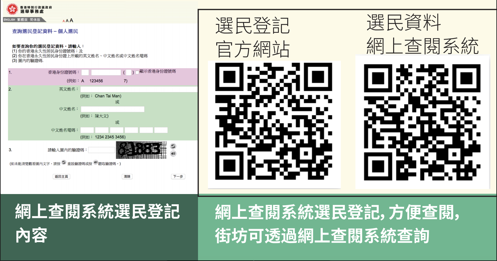 臨時選民登記冊 網上查詢教學/ 8月25日前截止上訴
