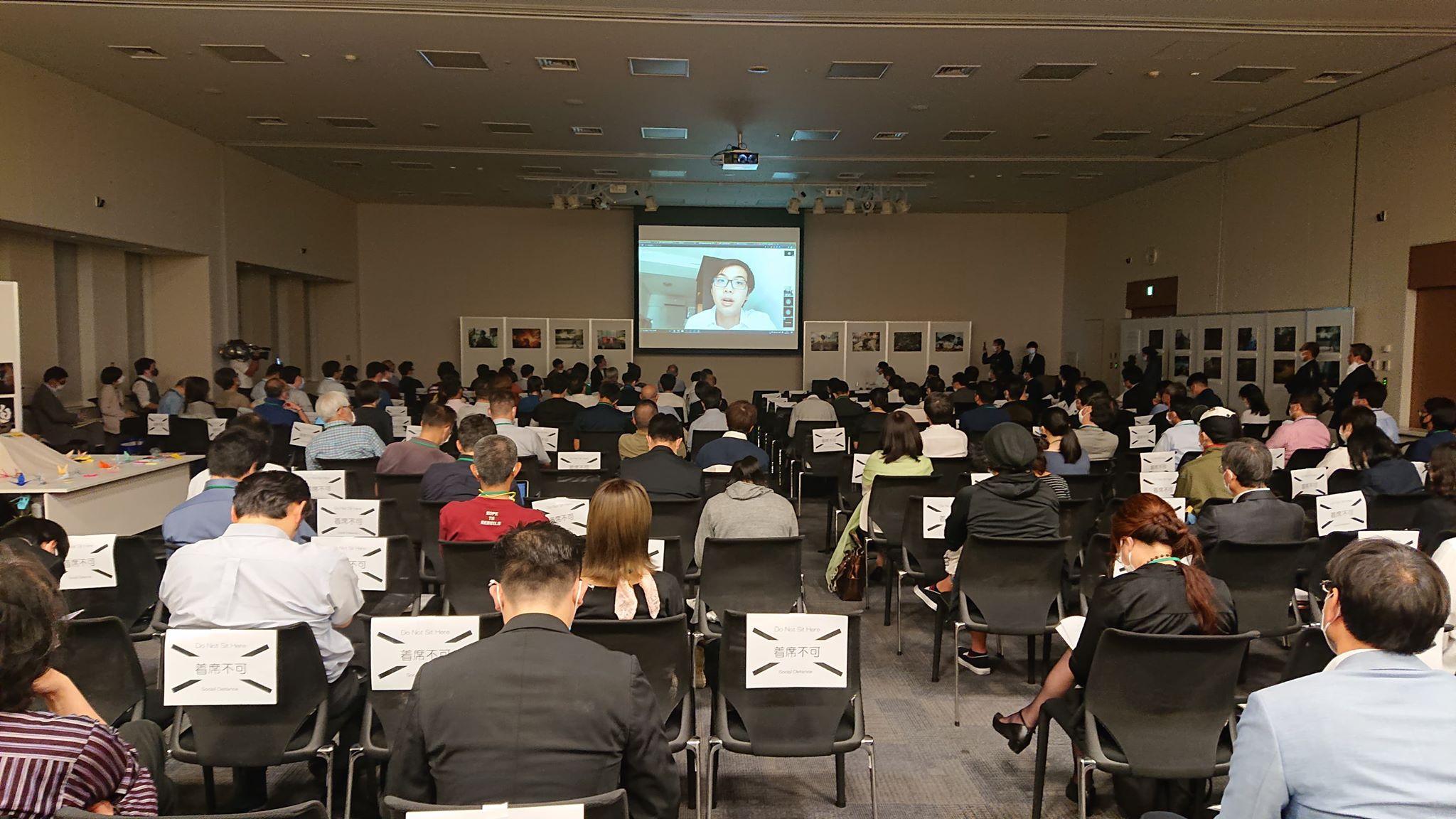 【出席於日本國會議員會館 舉行的「香港情況與日本的國際連結研討會」】